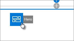 Переміщення веб-частини Hero