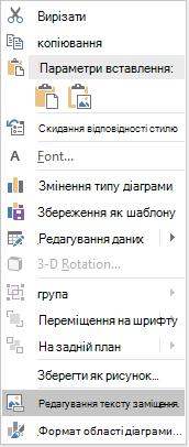 Меню PowerPoint Win32 редагувати текст заміщення для діаграм