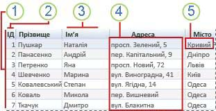 реляційна таблиця