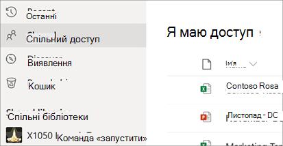 Надання спільного доступу до я маю доступ у службі OneDrive для бізнесу
