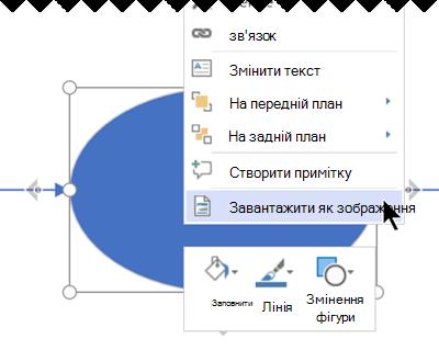 Клацніть виділені об'єкти правою кнопкою миші та виберіть команду Завантажити як зображення.