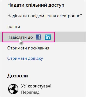 вибір соціальної мережі для публікації