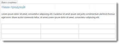 Таблиця на веб-сайті SharePoint Online