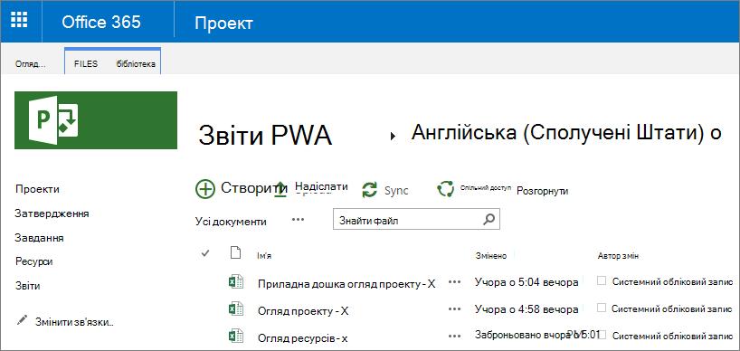 """На сторінці """"звіти PWA"""" виберіть свою мову."""