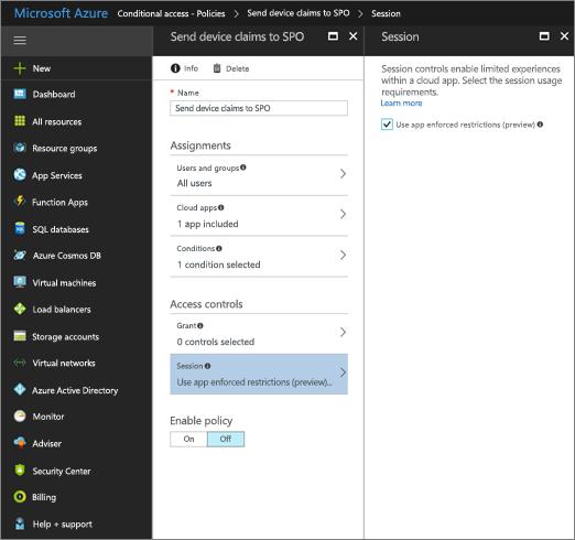 Створення політики в Центрі адміністрування AzureAD для використання програмних обмежень