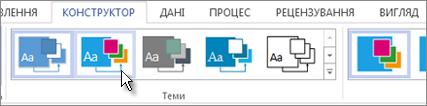 Колекція тем у програмі Visio