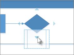перетягування фігури до стрілок автоматичного з'єднання