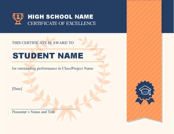 Зображення сертифіката високої школи