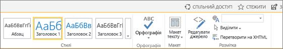 """Знімок екрана: розділ стрічки SharePointOnline з елементами керування """"Спільний доступ"""", """"Підписатися"""" та """"Зберегти"""""""