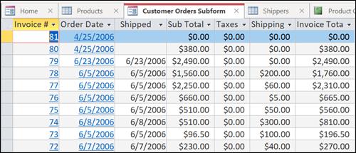 Таблиця даних із вкладками, розташування яких можна змінювати