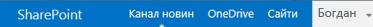 Панель переходів на сервері SharePoint Server2013
