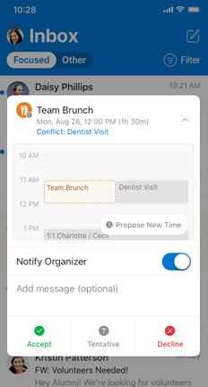 """Запрошення до календаря за допомогою кнопки """"запропонувати новий час"""""""