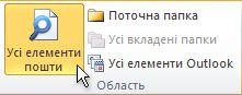 ''Усі елементи пошти'' на стрічці