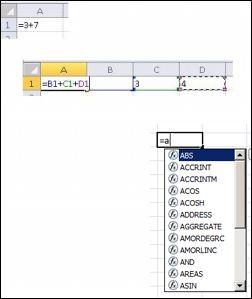 Різні способи створення формул