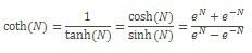 Формула COTH