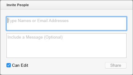 Щоб надіслати запрошення одержувачам, можна вказати імена з ваших контактів або адрес електронної пошти.