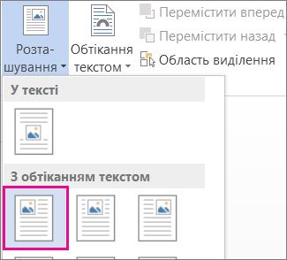 Обтікання текстом угорі ліворуч