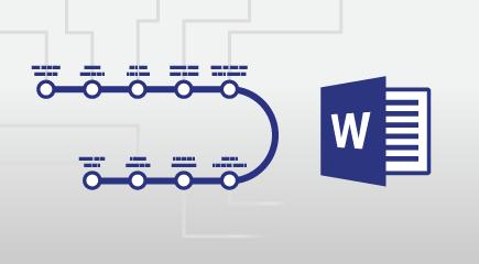 Плакат навчального програмі Word 2016