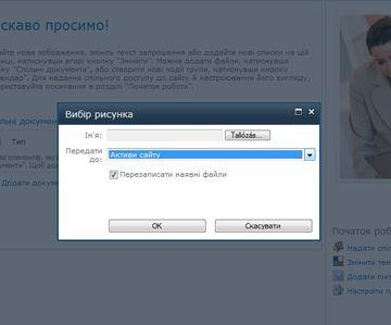 Додавання зображення на сайт