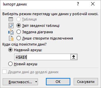 Імпорт даних