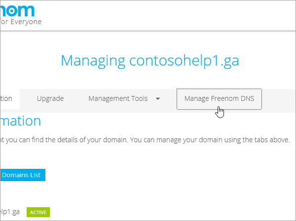 Параметр Manage Domain (Керування доменом) на сайті Freenom_C3_2017530144245