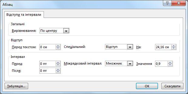 У діалоговому вікні абзац у програмі PowerPoint