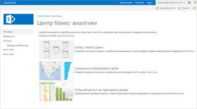 Шаблон сайту центру бізнес-аналітики