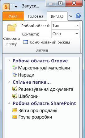 Робочі області, категоризовані за типом
