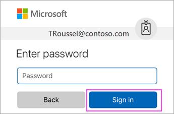 Введіть пароль робочого або навчального облікового запису Office365.