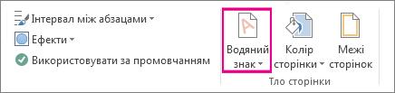 """команда """"водяний знак"""" у програмі word 2013 на вкладці """"конструктор""""."""