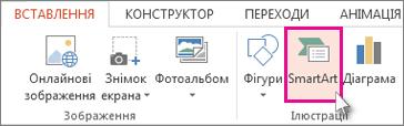 Кнопка «SmartArt»
