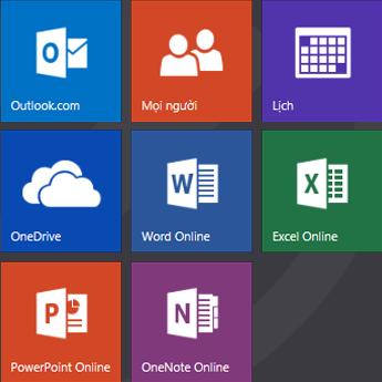 Màn hình bắt đầu Office.com