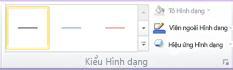 Nhóm Kiểu Hình dạng trên tab Định dạng trong Công cụ SmartArt