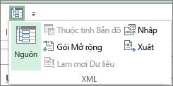 Trên Thanh công cụ Truy nhập Nhanh, bấm XML