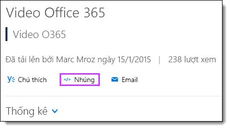 Mã nhúng Video Office 365