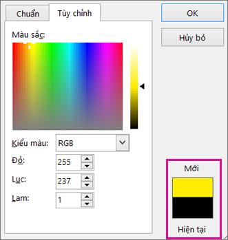 So sánh các lựa chọn màu mới và hiện tại