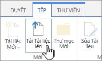 Nút tải lên tài liệu trên ruy-băng