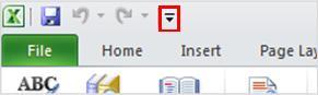 Lệnh Nói trong Thanh công cụ Truy nhập Nhanh Excel