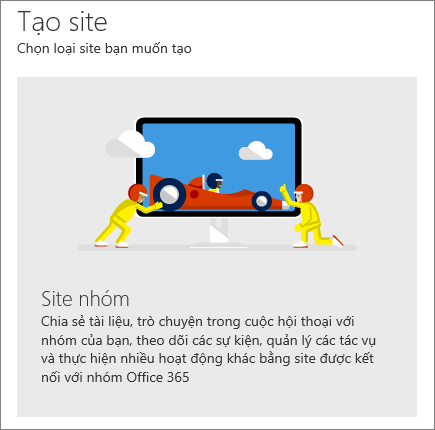 Tạo site trong SharePoint Office 365