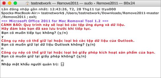 Chạy công cụ Remove2011 bằng cách dùng Control + bấm để mở.