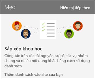 SharePoint Online trang sử dụng Mẹo