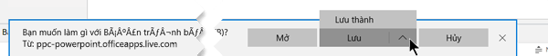 Dùng lưu hoặc lưu dưới dạng và sau đó chọn thư mục trên máy tính của bạn, nơi bạn muốn lưu tệp