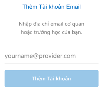 Thiết lập Email trong Outlook for iOS Bước 3