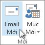 Bấm email mới.