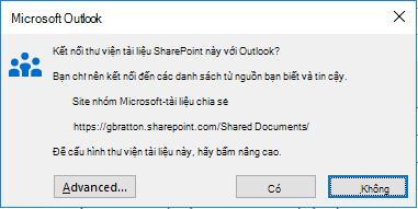 Kết nối với thư viện tài liệu SharePoint