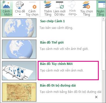 Nút bản đồ tùy chỉnh mới trong bộ sưu tập ảnh phong cảnh mới