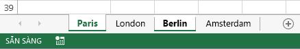 Các tab Paris và Berlin đã được bấm vào.
