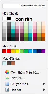 Tùy chọn Màu