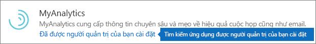 Phần bổ trợ do người quản trị cài đặt trong kho lưu trữ Outlook.