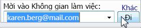 Mời vào không gian làm việc thông qua địa chỉ email